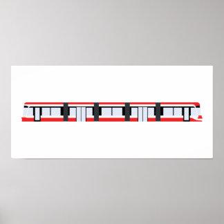 TTC New Streetcar Poster (fits IKEA RIBBA frame)