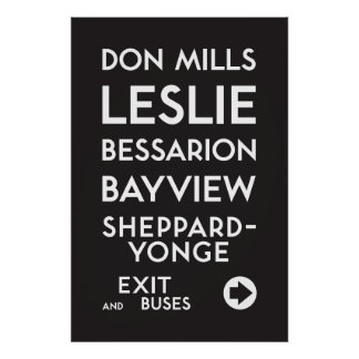 TTC - Sheppard Don Mills Poster