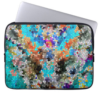 TTEQOTGCubismINV SGDRKDP BLUE Laptop Sleeve
