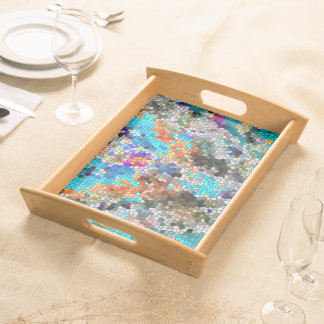 TTEQOTGCubismINV SGDRKDP BLUE Serving Tray