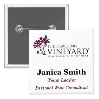 TTVlogo_3color_hi, Janica Smith, Personal Wine ... 2 Inch Square Button