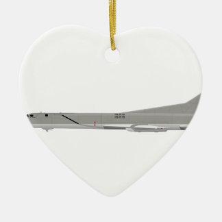 Tu-22M Backfire Ceramic Heart Ornament