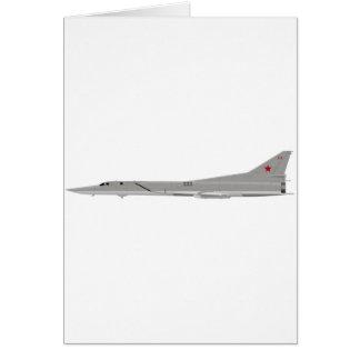 Tu-22M Backfire Greeting Card