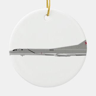 Tu-22M Backfire Round Ceramic Ornament