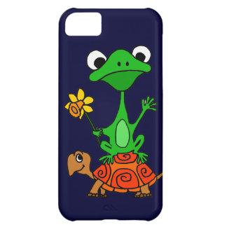 TU- Funny Frog Riding Turtle Cartoon iPhone 5C Cases