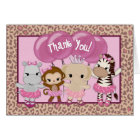 Tu Tu Cute Ballerina Thank You TTC note card