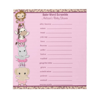 Tu Tu Cute Ballerina Word Scramble TTC 40-pages Notepad