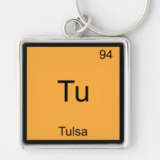Tu - Tulsa City Chemistry Element Symbol T-Shirt Keychain