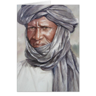 Tuareg Turbaned Man Card
