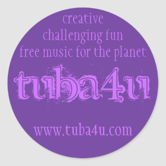 tuba4u #2 classic round sticker