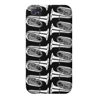 Tuba Abstract Pattern iPhone 4 Matte Case Cover For iPhone 4