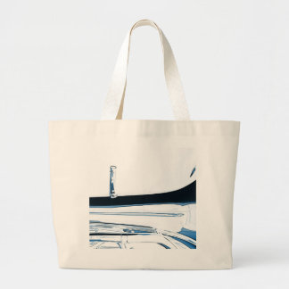 Tuba Bass horn Picture on White Large Tote Bag