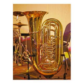 Tuba brass instrument postcard