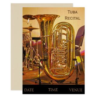 Tuba brass instrument Recital Card