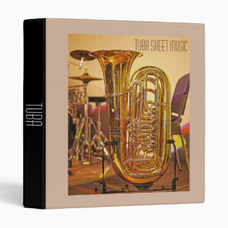 Tuba brass Sheet Music student folder 3 Ring Binder