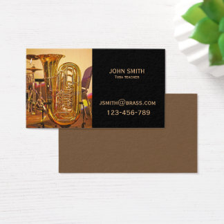 Tuba brass Teacher or tutor Business Card