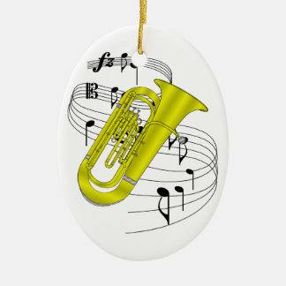 Tuba Ceramic Ornament