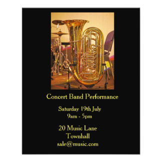 Tuba concert band brass band music performance flyer