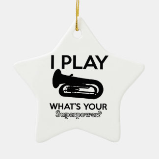 tuba designs ceramic ornament