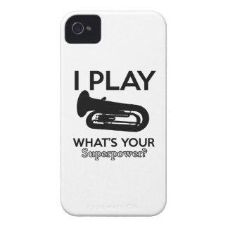 tuba designs iPhone 4 Case-Mate cases