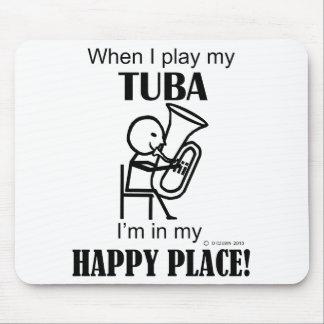 Tuba Happy Place Mouse Pad