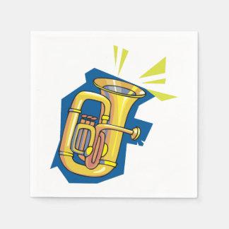 Tuba Instrument Paper Napkins