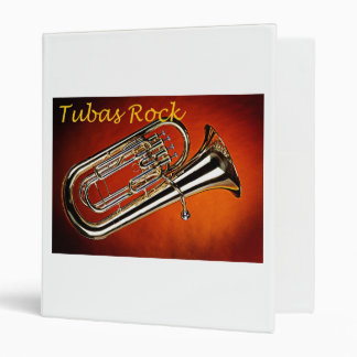 Tuba Notebook 3 Ring Binder for Band Musician
