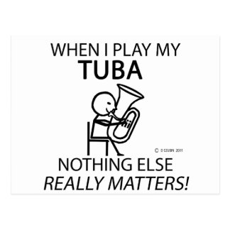 Tuba Nothing Else Matters Post Cards