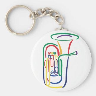 Tuba Outline Keychain