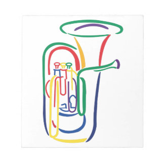 Tuba Outline Notepad
