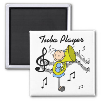 Tuba Player Magnet