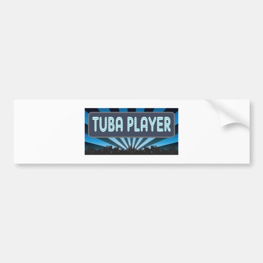 Tuba Player Marquee Bumper Sticker