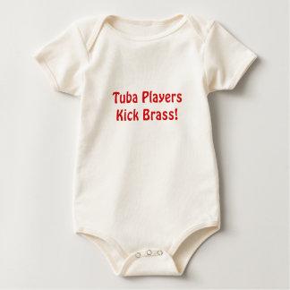 Tuba Players Kick Brass Baby Bodysuit