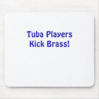 Tuba Players Kick Brass Mouse Pad