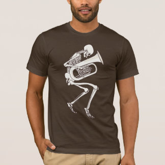 Tuba Playing Skeleton T-Shirt