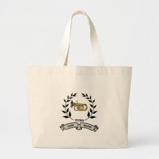 tuba time large tote bag