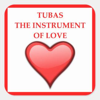 TUBAS SQUARE STICKER