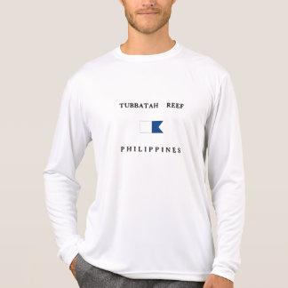Tubbatah Reef Philippines Alpha Dive Flag T Shirts