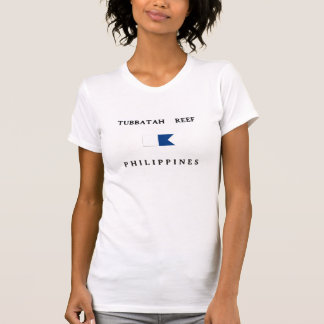 Tubbatah Reef Philippines Alpha Dive Flag Tshirts