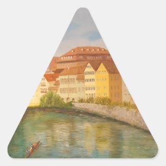Tubingen in Sunlight Triangle Sticker