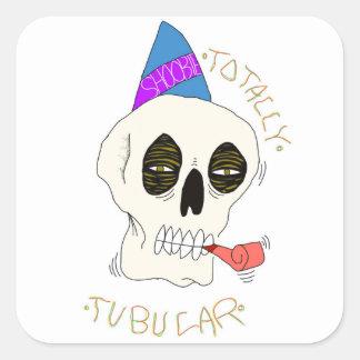 Tubular Square Sticker