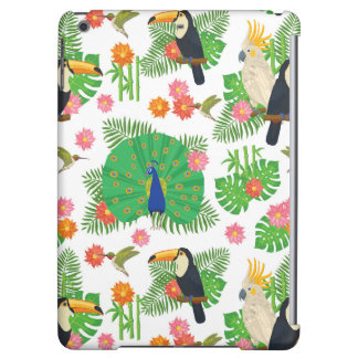 Tucan And Peacock Pattern iPad Air Cases
