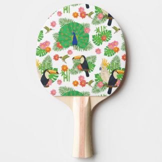 Tucan And Peacock Pattern Ping Pong Paddle