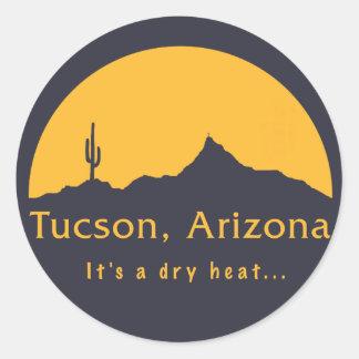 Tucson, Arizona - It's a dry heat... Classic Round Sticker