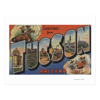 Tucson, Arizona - Large Letter Scenes 2 Postcard