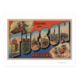 Tucson, Arizona - Large Letter Scenes Postcard