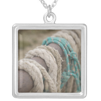 Tucson, Arizona: Ropes and hanrnesses used  on Silver Plated Necklace