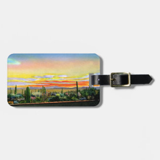 Tucson Arizona Tucson Mountain Park from the Rock Luggage Tag