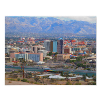 Tucson City Skyline Poster