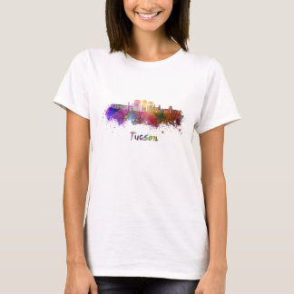 Tucson V2 skyline in watercolor T-Shirt